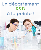 Un département R&D à la pointe!